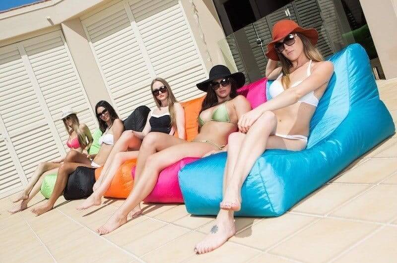 outdoor beanbags poolside