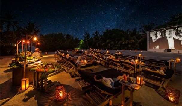 Soneva Fushi Resort Outdoor Cinema