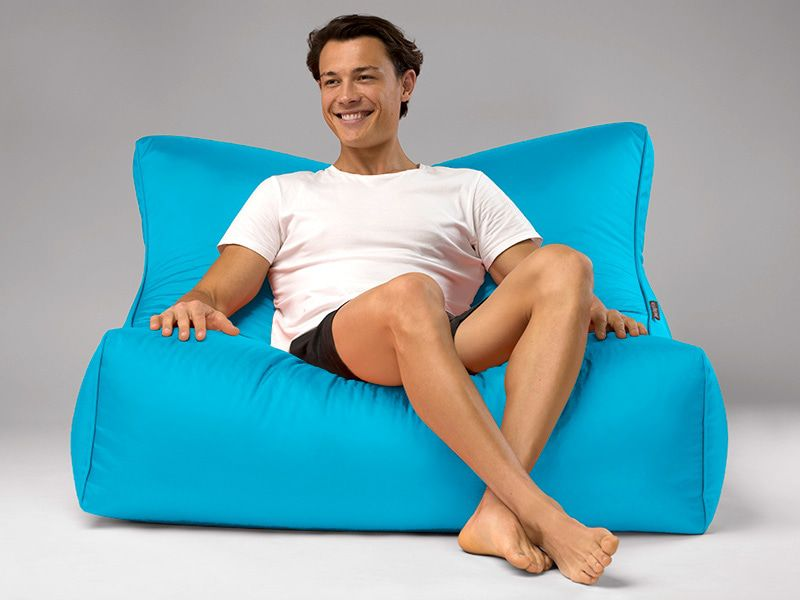 Cayman outdoor bean bag lounger turquoise