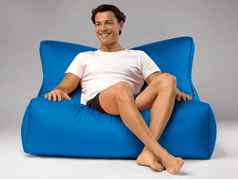 Cayman outdoor bean bag lounger blue