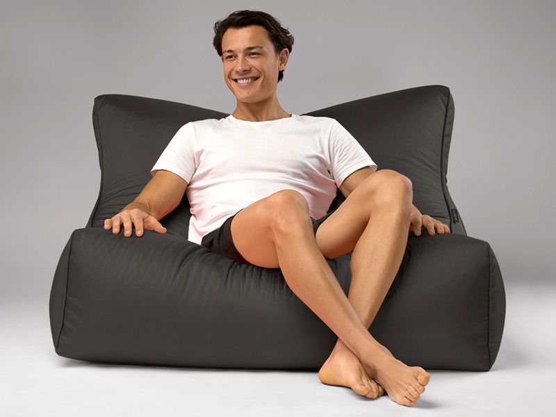 Cayman outdoor bean bag lounger charcoal