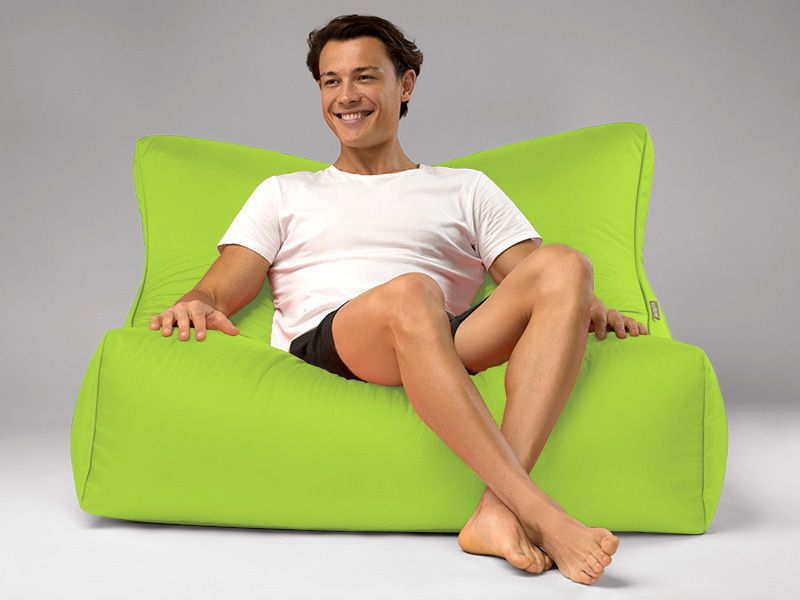 Cayman outdoor bean bag lounger lime