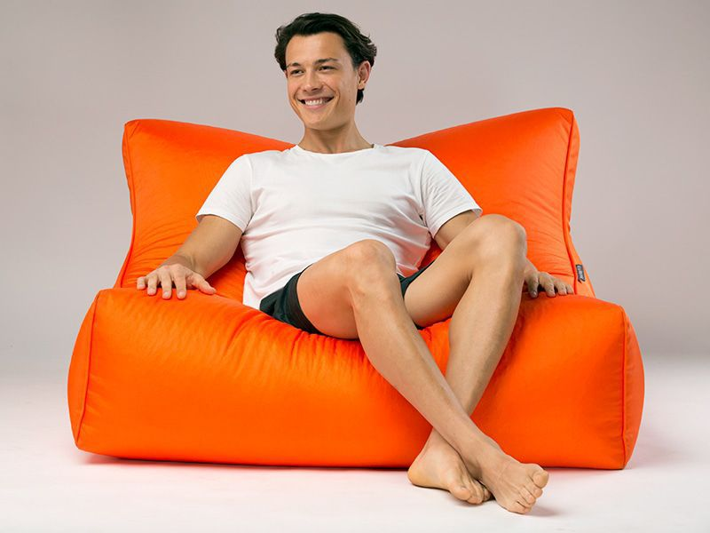 Cayman outdoor bean bag lounger orange