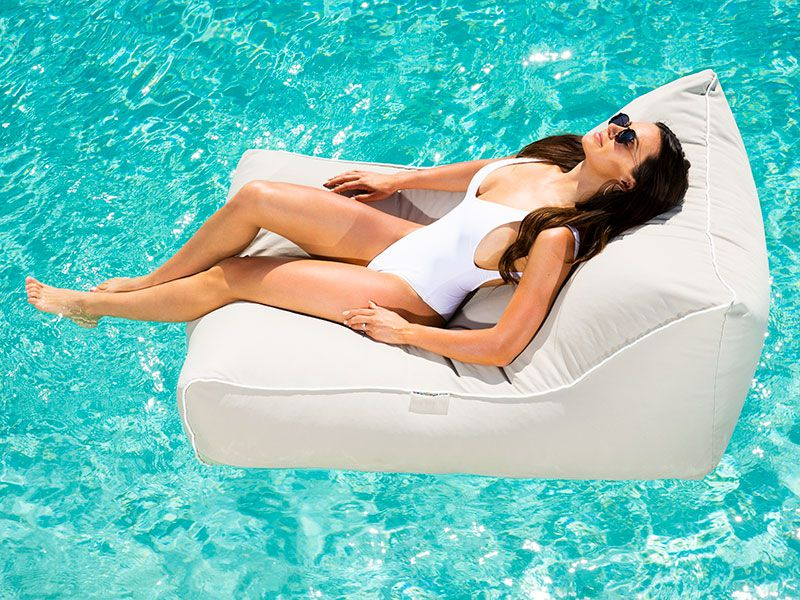 Amalfi Pool Lounger Light Grey