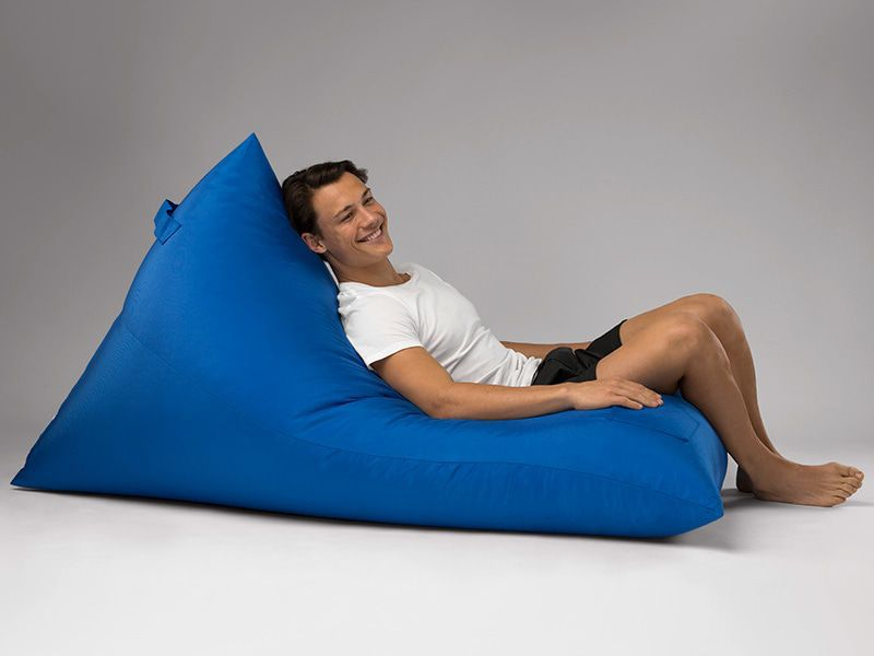 Bermuda Triangle Outdoor Bean Bag Lounge Blue
