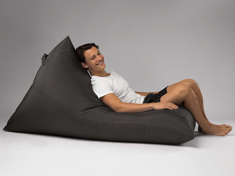 Bermuda Triangle Outdoor Bean Bag Lounge Charcoal