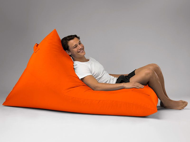 Bermuda Triangle Outdoor Bean Bag Lounge Orange