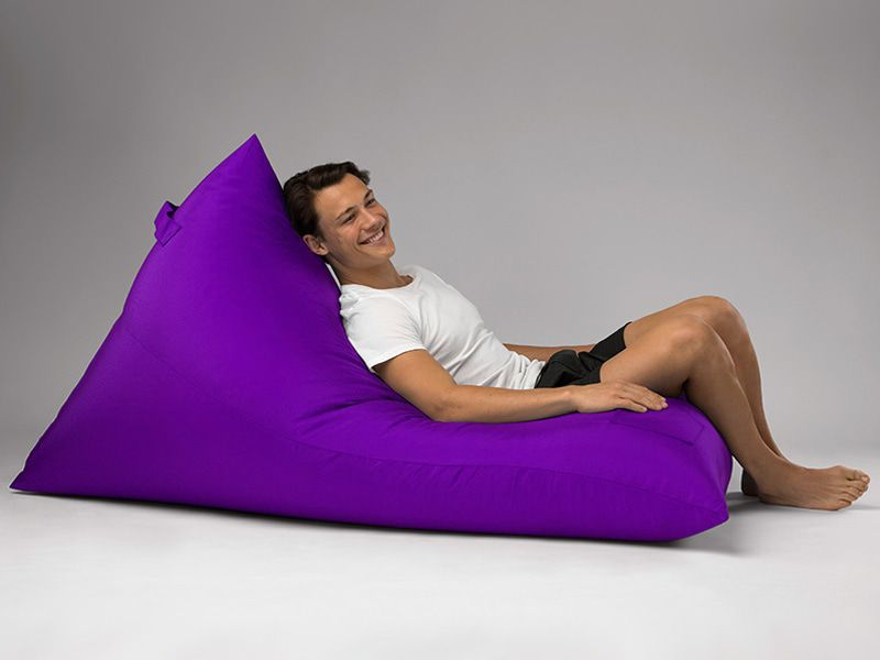 Bermuda Triangle Outdoor Bean Bag Lounge Purple