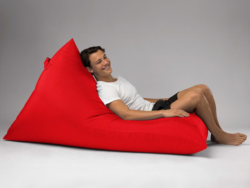 Bermuda Triangle Outdoor Bean Bag Lounge Red