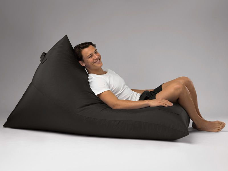 Bermuda Triangle Outdoor Bean Bag Lounge Black