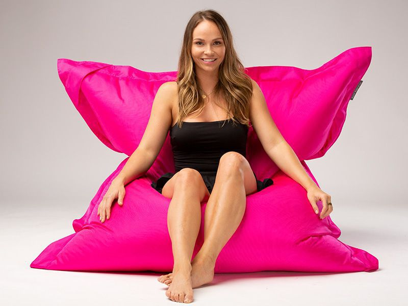 Big Mama Large Beanbag Pink Lady Seated