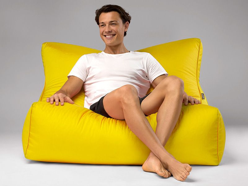 Cayman outdoor bean bag lounger yellow