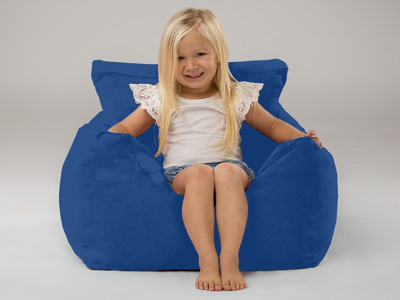 Coco kids beanbag chairs blue