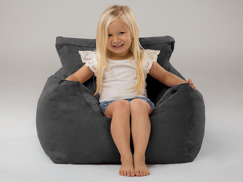 Coco kids beanbag chairs charcoal