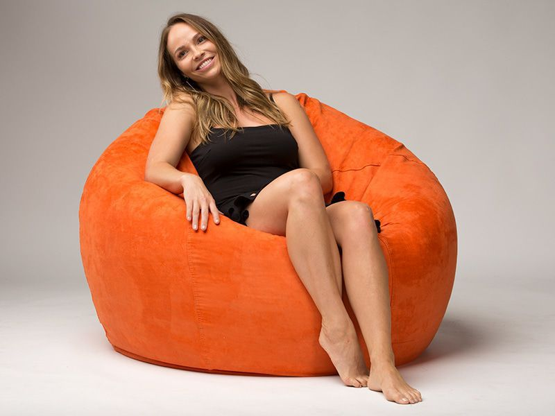 Cocoon Beanbag Chair Orange