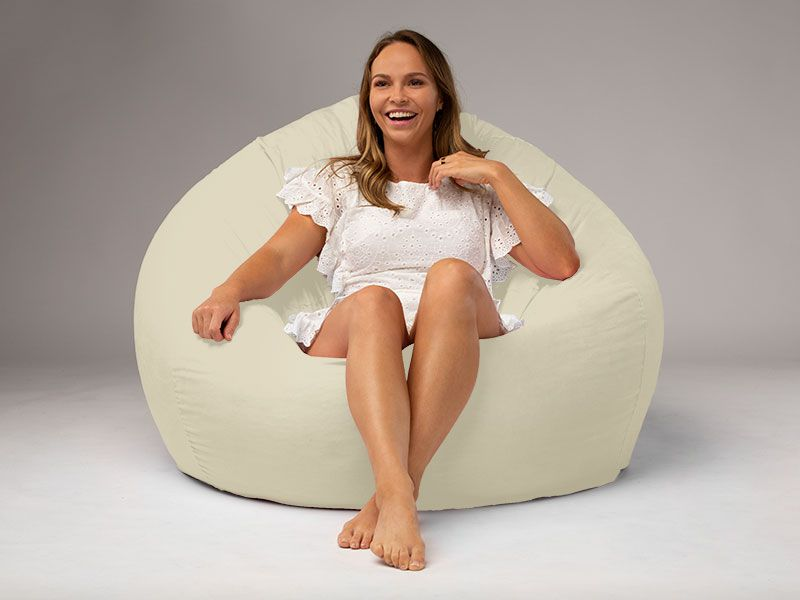 Cocoon Suede Beanbag Chair Beige