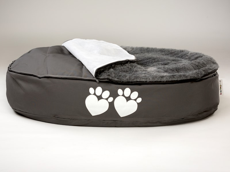 ultimate large dog bed removable fur top