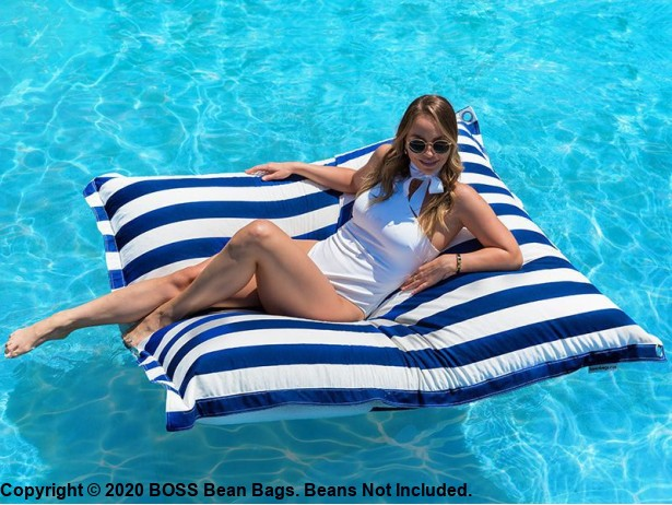 Striped Pool Bean Bags